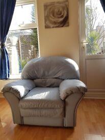 Super comfy modern armchair blue