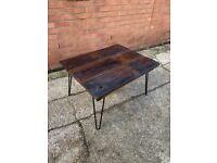 Vintage min century hardwood coffee table