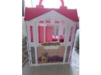 Barbie fold up house