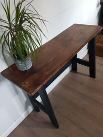 New HANDCRAFTED A frame 120cm CONSOLE TABLE Rustic DESK Reclaimed Wood FREE LOCAL DELIVERY