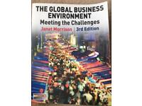 The Global Business Environment: Meeting The Challenges Textbook. J. Morrison