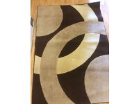 Cream and brown large contemporary rug ( collect from Beverley)