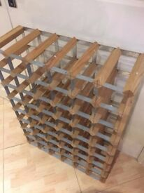 48 bottle section wooden Wine rack extra large and very sturdy as new