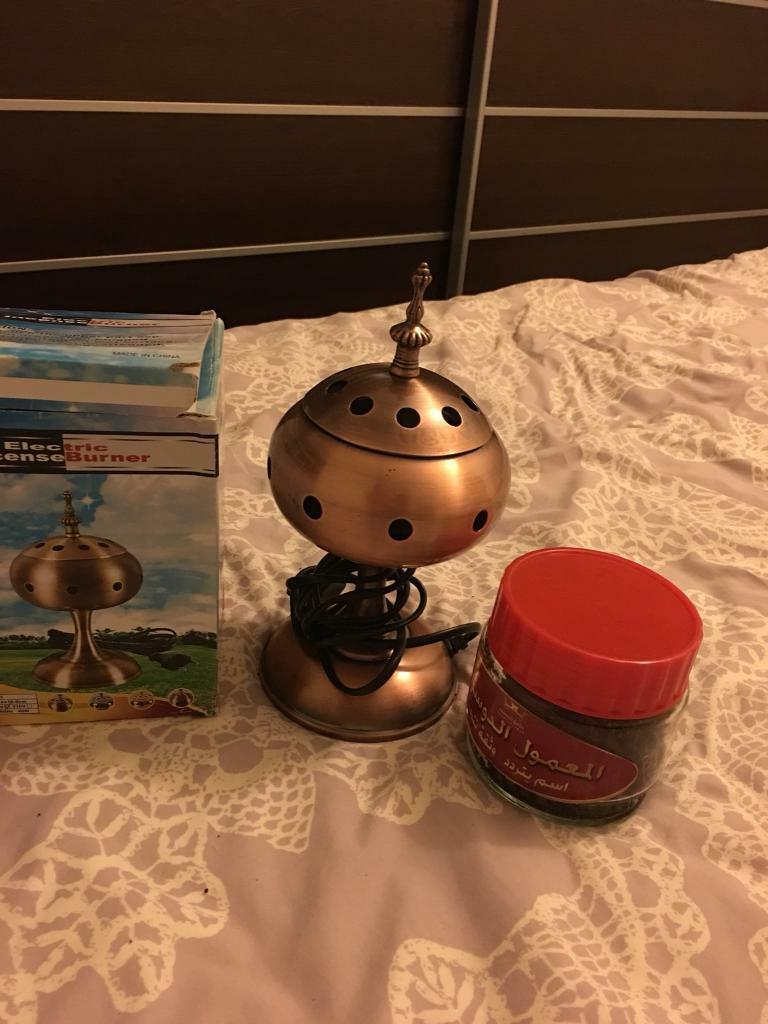 Electric incense burner with incense