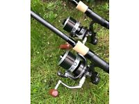 Carp fishing outfit