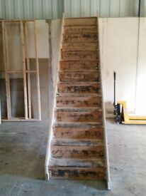 2 x Wooden Stair cases