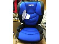 Brand new Sparco group 2/3 child's high back booster seat to suit ages 4-9