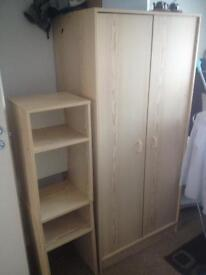 Single wardrobe and two bedside cabinets