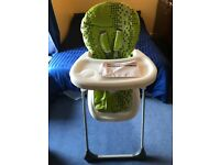 Green Dotty High Chair