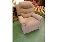 Fabric Manual Reclining Armchair (Mink colour)