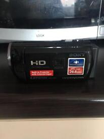 Sony hd camcorder with built in projector
