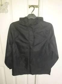 Boys 13-14 Years Black Waterproof Jacket