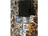 PS3 with 3 controllers and 5 games include FIFA 17 deluxe edition