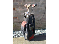 GOLF BAG & SET OF 13 CLUBS FOR SALE £5