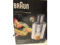 BRAUN Identity Collection spin juicer LIKE NEW and BOXED