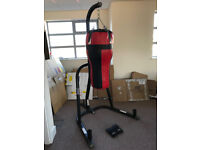 LONSDALE FREESTANDING UPPERCUT PUNCHBAG WITH GLOVES