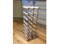 Pine and metal wine rack 14 bottle capacity