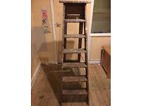 60's 5ft vintage wooden step ladders