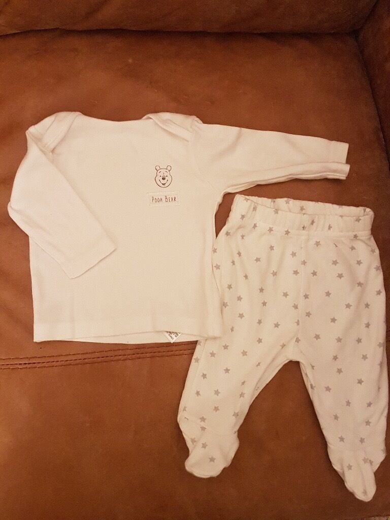 New unisex Pooh Bear baby clothes first sizein Norwich, NorfolkGumtree - New and unworn. No tags 2 piece top and trousers from Disney Store, Asda Unisex