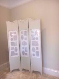 Laura Ashley Photo Screen Room Divider Shabby Chic Cream RRP £110
