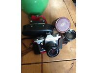 Praktica LTL3 Camera With Carl Zeiss Flektogon Lens and Photo Paragon Lens