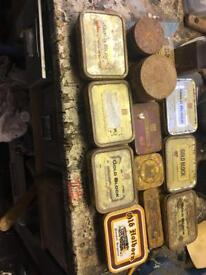 Old tobacco tins and sweetie tins