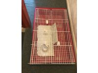 Ferplast Rabbit/Guinea Pig Cage with Water Bottle - Putney