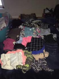 Bundle of woman's clothes fit size 10/12