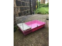 100cm pink indoor rabbit cage hutch