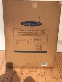 Heavy duty folding table- new condition -1800 x740x740mm- can take 400kg load on the table top!