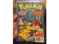 Pokemon First Movie Comic Limited Edition Signed By Actors Immaculate Condition