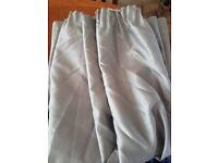 Silver / Light Grey pencil pleat curtains