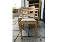 3 wooden kitchen/dinning chairs - free