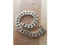 Gents Curb Cut Bracelet 9k