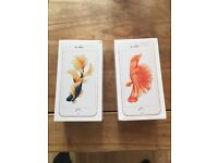 2x IPhone 6s Plus. One week old.