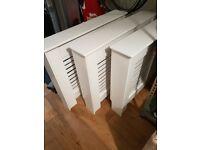 3 modern white radiator covers