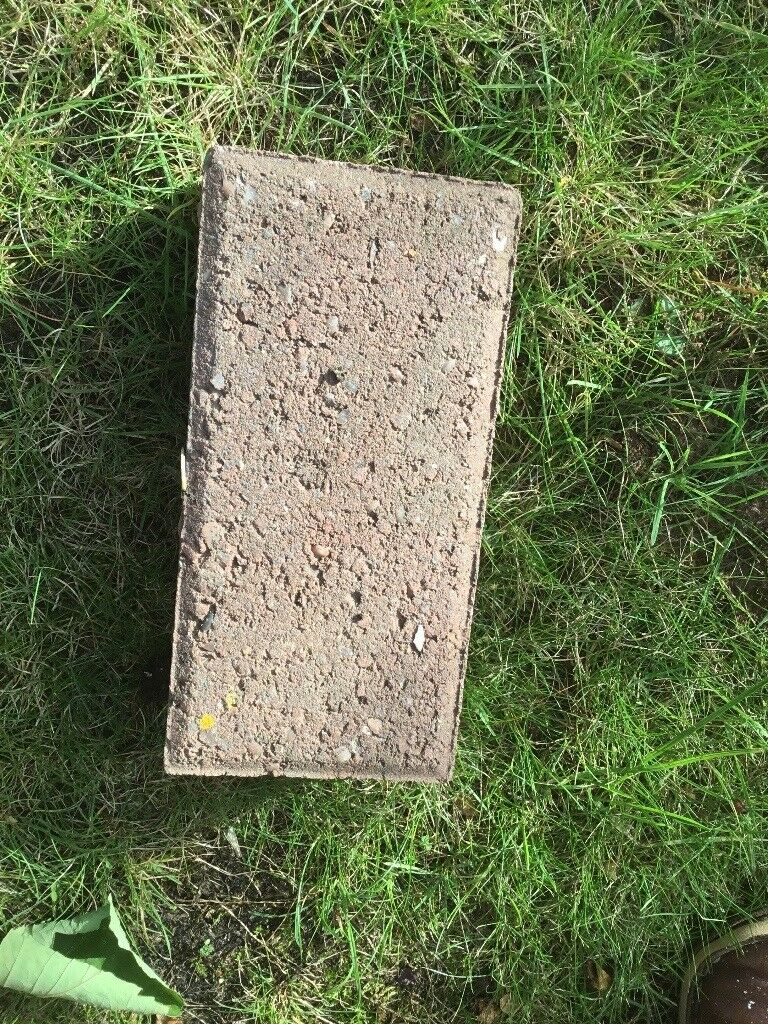 Approximate 100 assorted pink and grey block pavers FREE ...