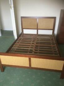 Unusual double bed base with slats !