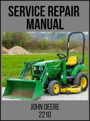 John Deere 2210 Compact Utility Tractor Technical Manual Tm2074 On Usb Drive