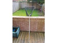 Landing net and pole bank sticks plus bags