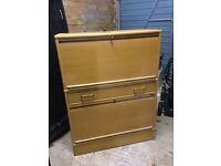Lockable tall cabinet (roll top) - ideal for home or office