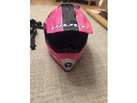 Pink wulfsport full face helmet