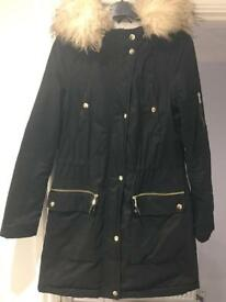 Warm winter Miss Selfridge parka school/work