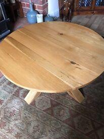 Circular Oak coffee table