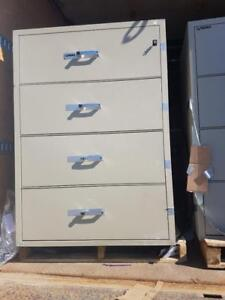 2 Gardex Fire Proof Filing Cabinets 4 Drawer Legal Size.