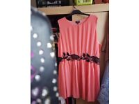 Ladies Lovely Coral Dress - Size 24