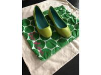 Shoes. BODEN flat all leather shoes