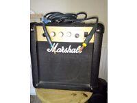 40 watt Marshal Guitar Amp and lead.