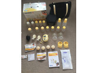Medela Freestyle double electric breast pump, plus loads of extras