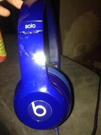 Beats solo headphones blue